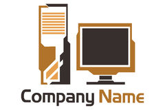 Computer logo Royalty Free Stock Photography