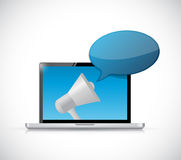 computer loudspeaker message icon Royalty Free Stock Photos
