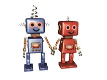 Computer love - robot love Royalty Free Stock Image