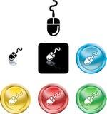 Computer-Mäuseikonen-Symbol Stockbild