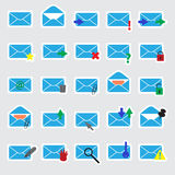 Computer mail blue stickers eps10 Stock Photo