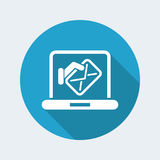 Computer mail icon stock illustration