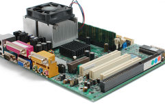 Computer main-board. On white background Stock Images