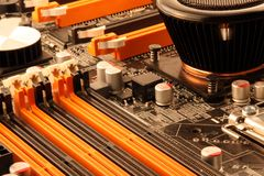 Computer Main Board Details Stock Images