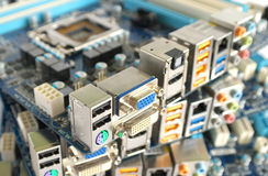Computer main boards Royalty Free Stock Images