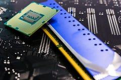 Computer main parts close-up Royalty Free Stock Image
