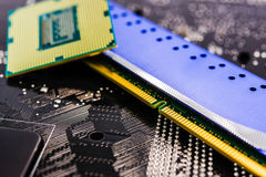 Computer main parts close-up Stock Image