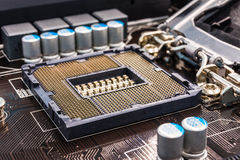 Computer main processor socket Stock Image