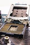 Computer main processor socket Stock Photos