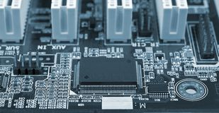 Computer mainboard   Stock Image