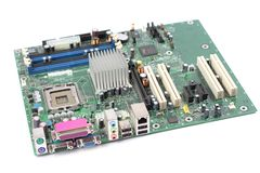 Computer mainboard. On white background Stock Image