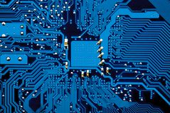 Computer mainboard circuits stock image