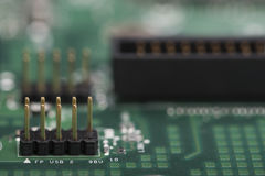 Computer mainboard Detail Stockfotos