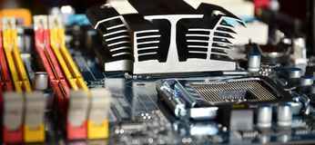 Computer mainboard detail Royalty Free Stock Photography