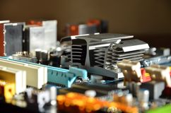 Computer mainboard detail Stock Photography