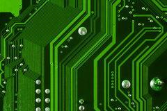 Computer mainboard detail Royalty Free Stock Image