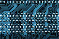 Computer mainboard stock photo