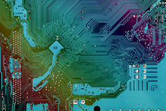 Computer mainboard. With electronic path Royalty Free Stock Photos