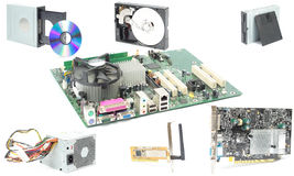 Computer mainboard hardware Stock Photography