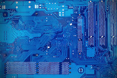 Computer mainboard or motherboard with high resolution detail Royalty Free Stock Photography