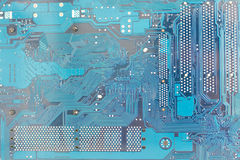 Computer mainboard or motherboard with high resolution detail Stock Photos