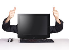 Computer man Royalty Free Stock Photography