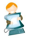 Computer Man Stock Photos