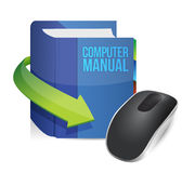 Computer manual and Wireless computer mouse Royalty Free Stock Photos