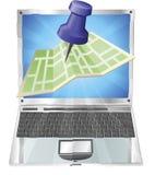 Computer map concept Stock Photos