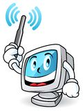 Computer mascot 1 Royalty Free Stock Images