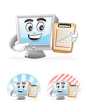Computer Mascot - Presentation Royalty Free Stock Images