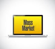 Computer mass marketing sign illustration design. Over a white background stock illustration