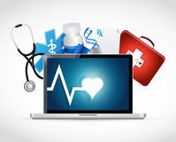 Computer medical concept illustration Royalty Free Stock Images