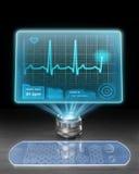 Computer medico futuristico Fotografia Stock Libera da Diritti