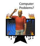 Computer Meltdown Royalty Free Stock Photo
