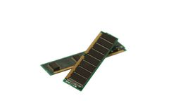 Computer memory. Module isolated on white royalty free stock photos