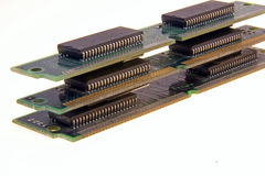 Computer Memory. Memory for computers with circuit boards royalty free stock photo