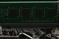 Computer memory chip. Background of new computer memory chip board stock photography