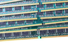 Computer memory chips. As very nice technology background royalty free stock image