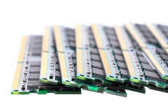 Computer memory chips. Isolated on the white background royalty free stock photography