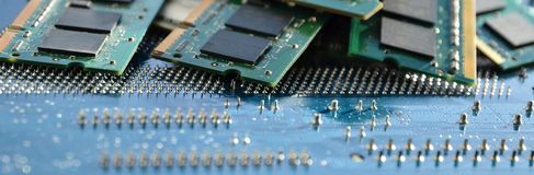 Computer memory details Stock Images