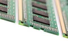 Computer Memory Macro. A macro of some DIMM memory modules. Very shallow DOF. Focus on the front royalty free stock photos