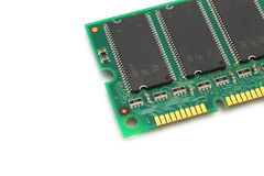 Computer memory module. On a white background stock photos