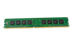 Computer memory module, isolation. Royalty Free Stock Photo