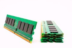 Computer memory modules chip electronic. The computer memory modules chip electronic stock photography
