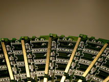Computer memory modules IV. Computer memory modules, close-up royalty free stock photo