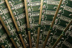 Computer memory modules V. Computer memory modules, close-up stock image