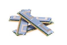 Computer memory modules Royalty Free Stock Photos