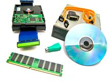 Computer memory and other Hardware Royalty Free Stock Images