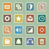 Computer menu icons set Royalty Free Stock Images